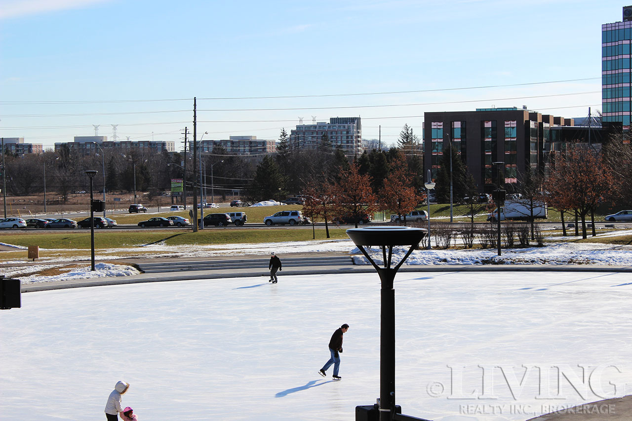 Markham Centre features plenty of fun outdoor activities and green spaces.