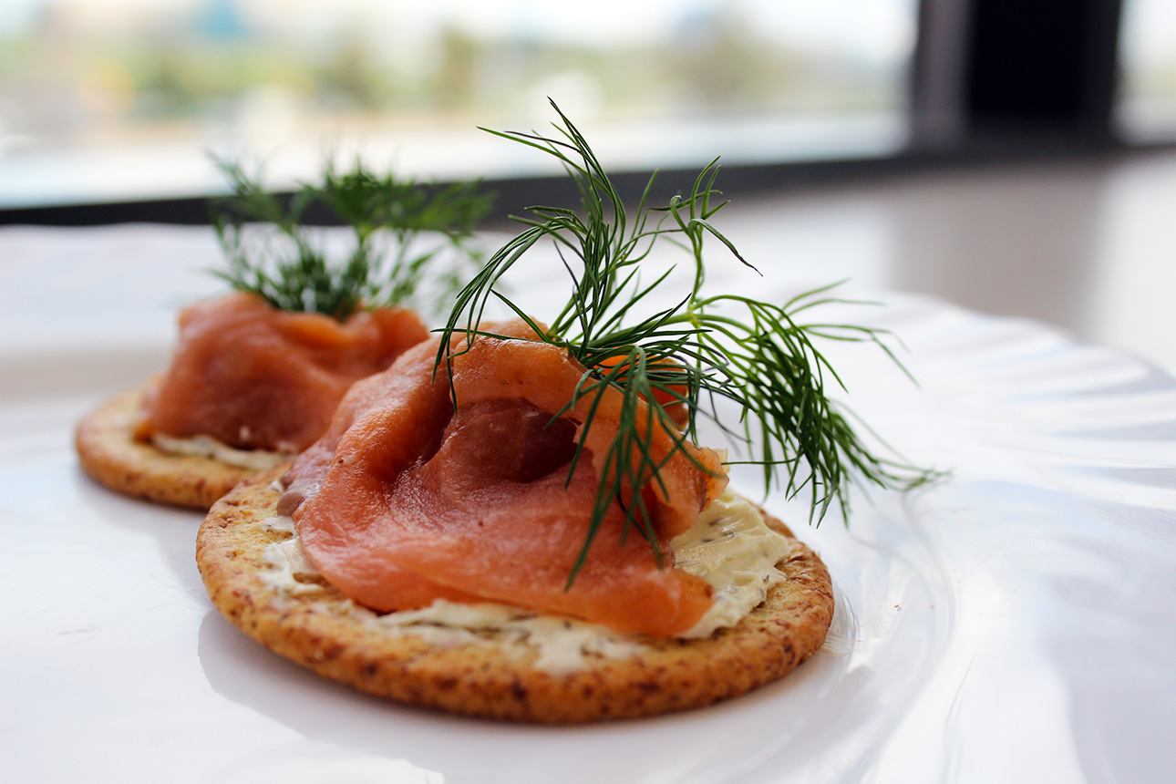 Real estate open house snack recipes classic salmon canap s for Canape kitchen