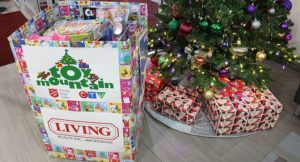 Living Realty Toy Drive donation box