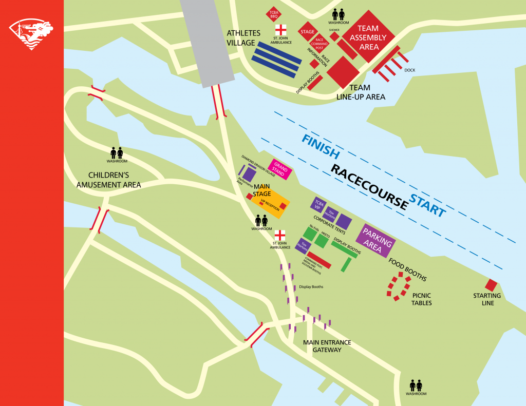 Dragon Boat Race Festival map
