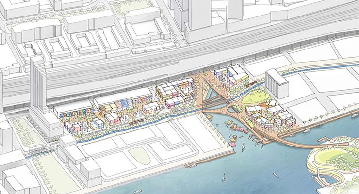 """Flexible lower floors"" in the draft plan for Quayside"