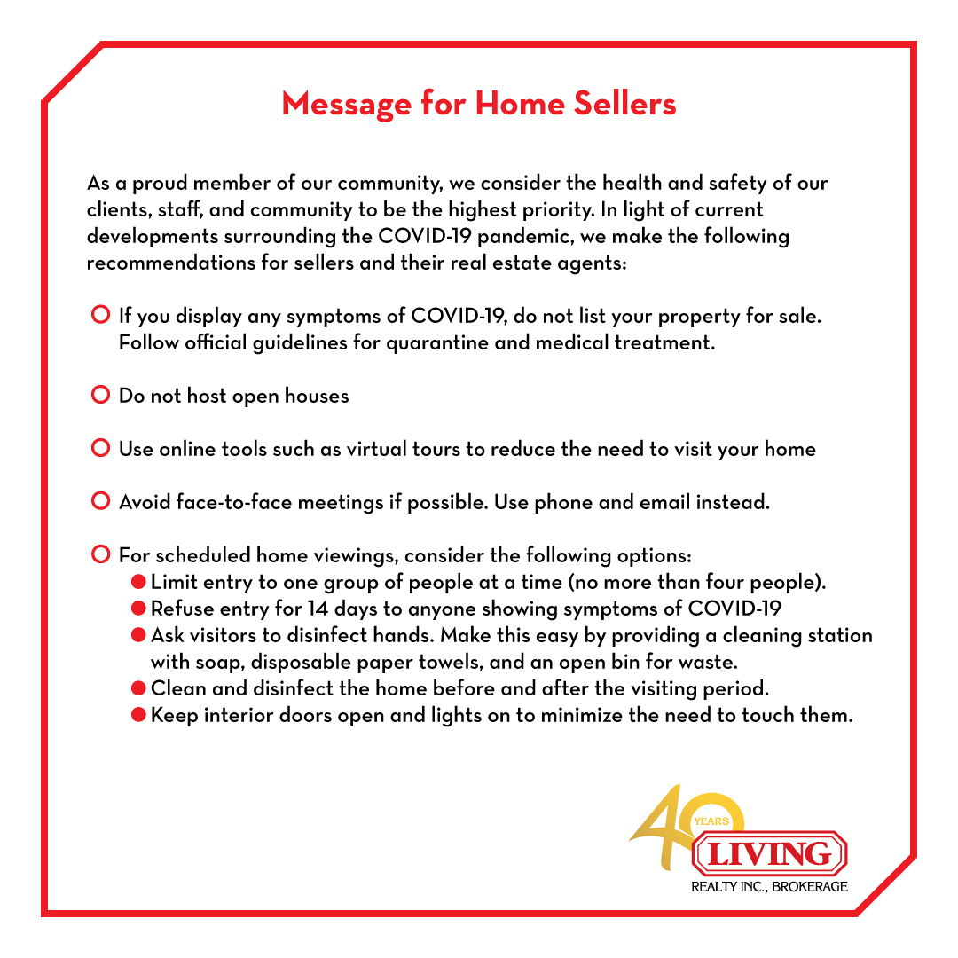 Message for home sellers